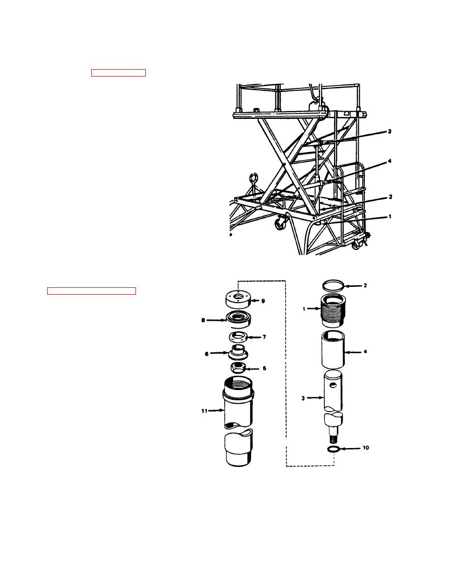 Figure 3-5. Actuating Cylinder Assembly, Exploded View