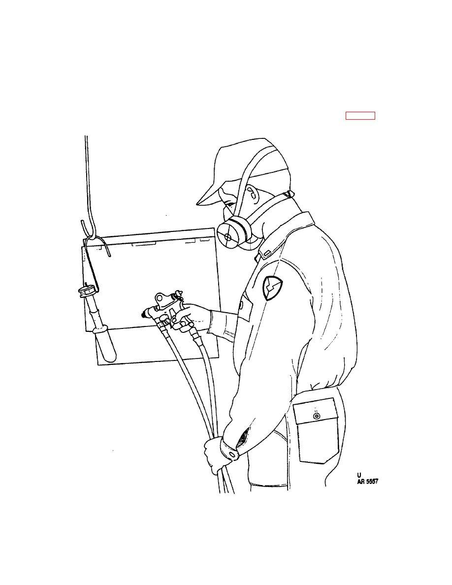 Figure 5-4. Spray painting of rifle grenade.