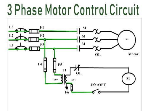 small resolution of how 3 phase motor control circuit works 3 phase transformer wiring diagram 3 phase motor wiring diagram 120 volt control
