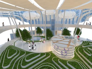Hyperlapse: Interior View at Level 3.