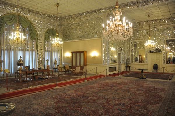 De werkkamer van de Shah