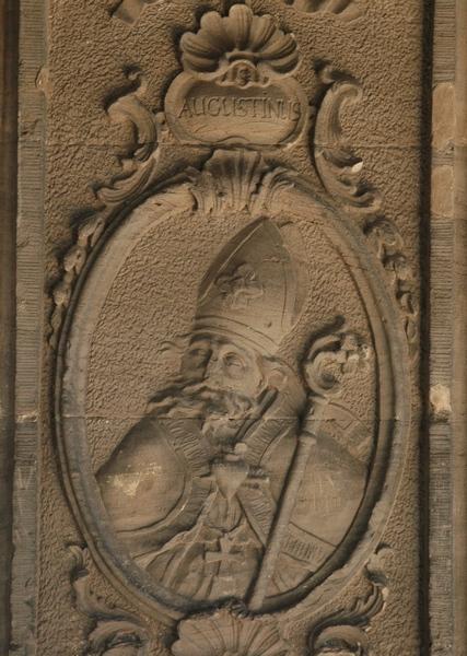 Achttiende-eeuws portret van Augustinus (Porta Nigra, Trier)