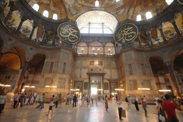 Het fenomenale interieur van de Hagia Sofia