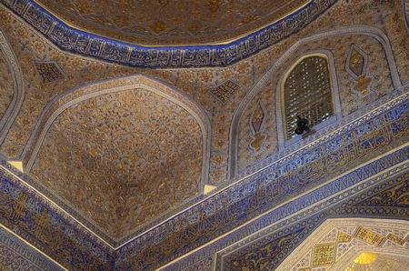 Interieur van Timoers mausoleum in Samarkand