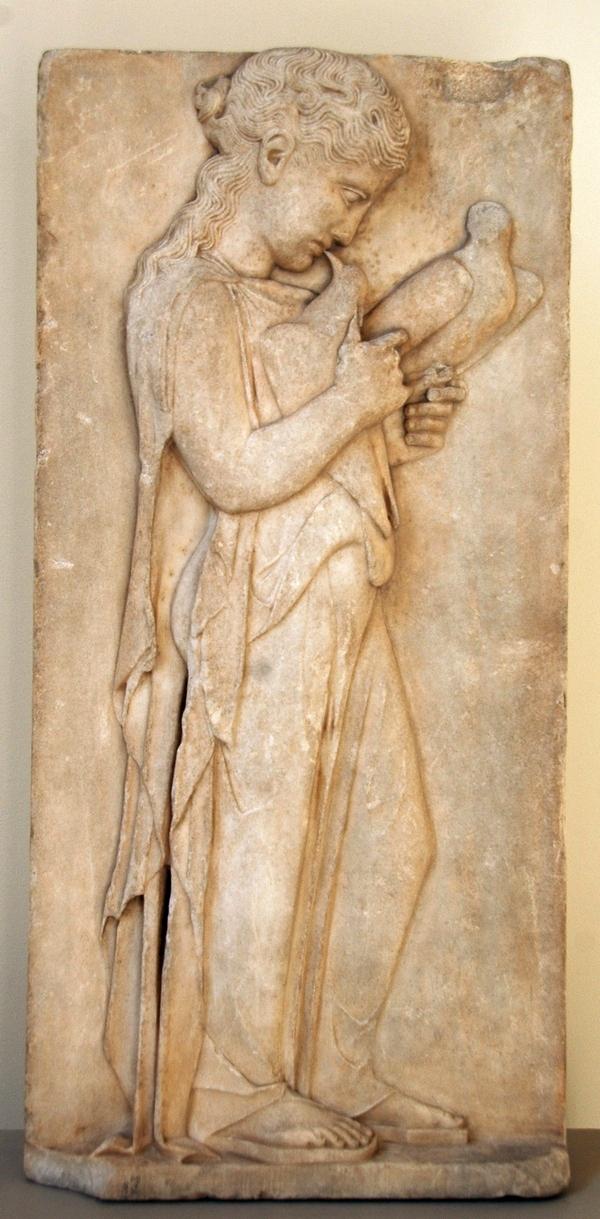 Grafreliëf van een meisje (Metropolitan Museum of Art, New York)