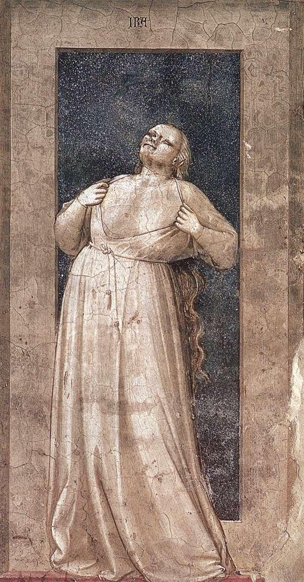 Giotto, De woede (Srovegni-kapel, Padua)