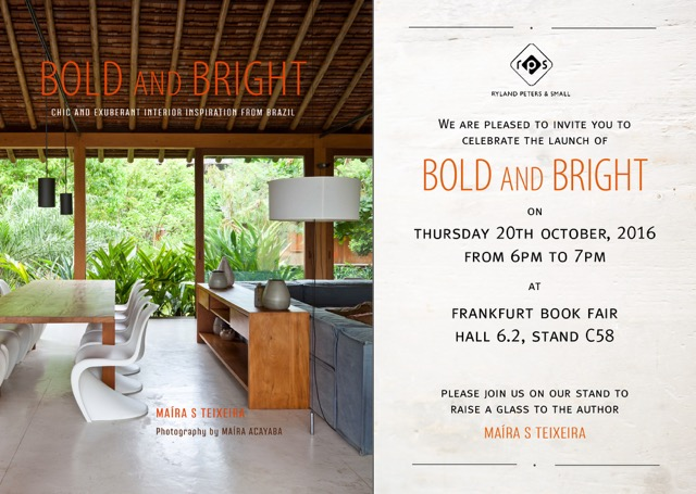 bold and bright launch party invitation