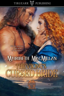 Cover of The Viking's Cursed Bride from Tirgearr Publishing with clickable link to publisher's website embedded.