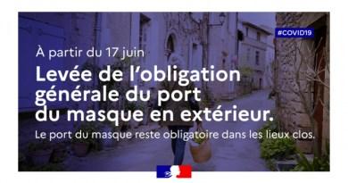 Arrêté Préfectoral : fin du port du masque en extérieur