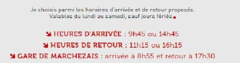 TAD horaires destinations 1