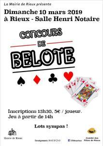 Concours de belote @ Salle Henry-Notaire | Rieux | Hauts-de-France | France