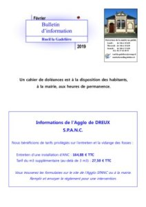 thumbnail of Information février 2019