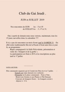 thumbnail of Bulletin de juin et juillet 2019