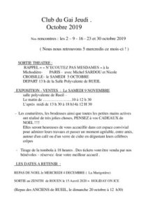 thumbnail of Bulletin d'octobre 2019