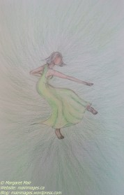 Green Dancer, M. Mair, original art