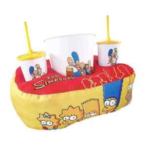 Kit Cinema Almofada Porta Pipoca Simpsons