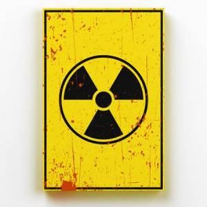 Placa Decorativa de Metal Risco Tóxico