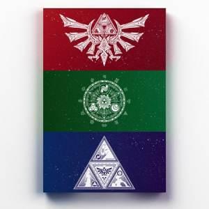 Placa Decorativa de Metal Triforce