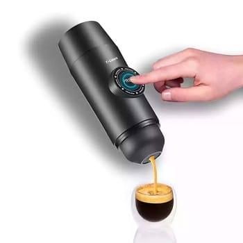 Cupão desconto! Máquina de café portátil automática 2 em 1 por 59,8€ e manual por 16,8€