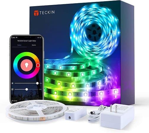 Fita TECKIN LED RGB 5mt WiFi desde Espanha só 14,99€*