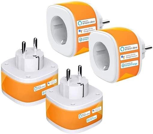 Cupom Amazon! Pack 4 Tomadas Inteligentes Desde Espanha Por 22,90€