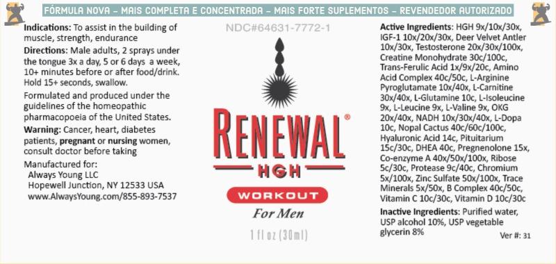 Rotulo Renewal HGH Workout