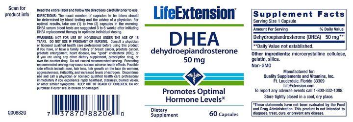DHEA 50mg life extension