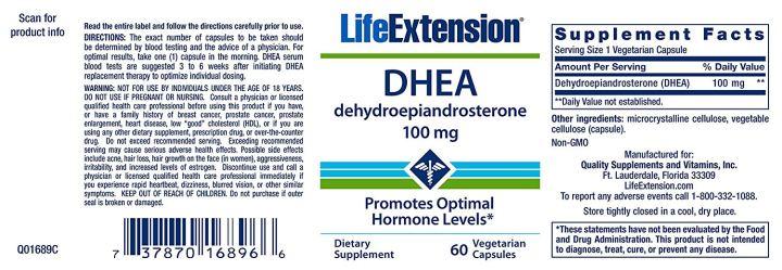 DHEA 100mg life extension