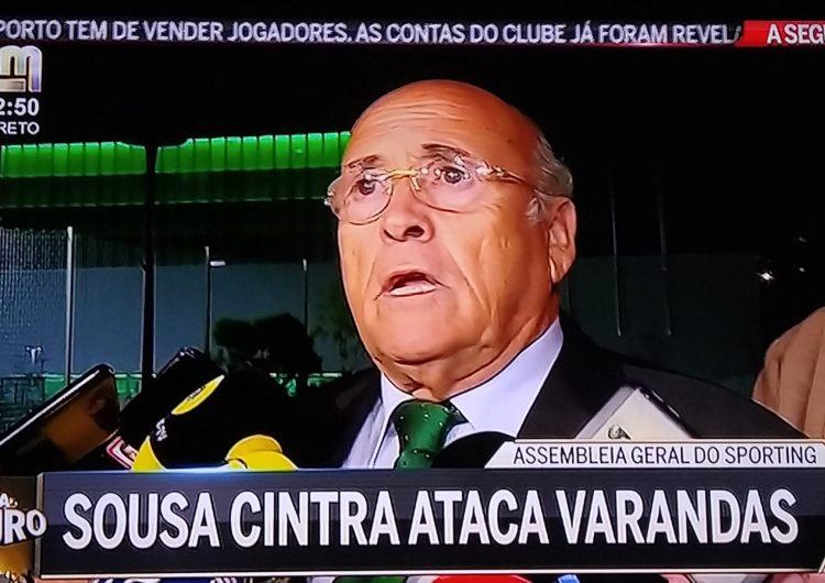 Sousa Cintra critica duramente Varandas