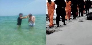 Ex-Muçulmano Batiza Convertidos na Mesma Praia onde o EI Decapitou 21 Cristãos