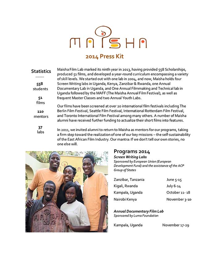 Maisha-Film-Lab-2014-Press-Kit