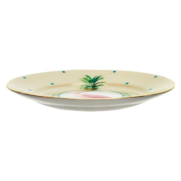 Yvonne Ellen Pineapple Flamingo Cake Plate_Side