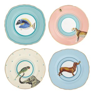 Animal Cake Plates, Set of 4