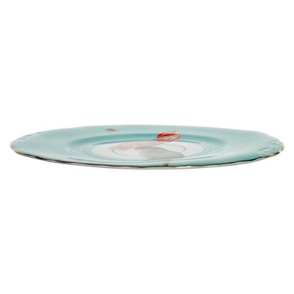 Yvonne Ellen Parrots Plate, White/Multi_Side