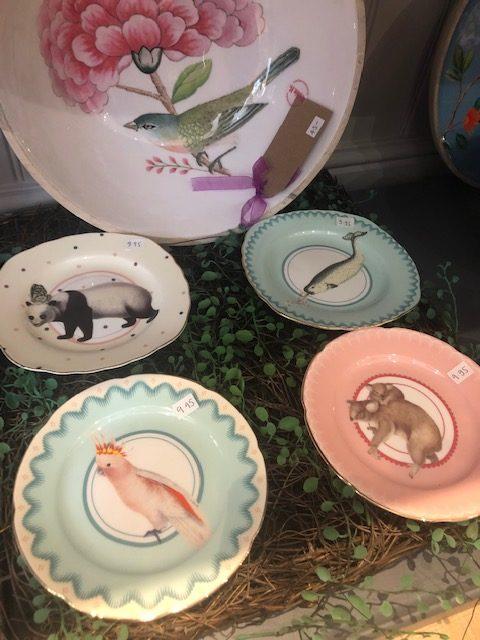 Pretty Pastel Animal Cake Plates, Set of 4
