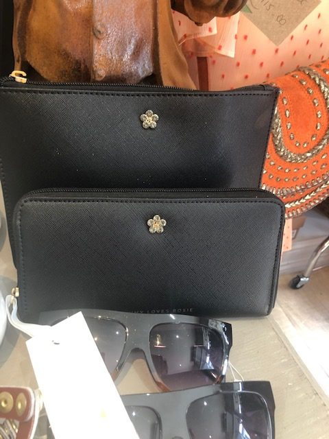 Black Jewelled Medium Pouch & Purse
