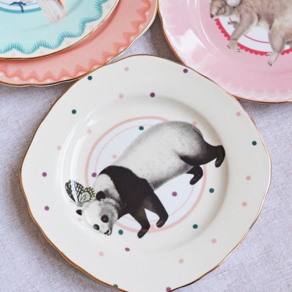 Pretty Pastel Animal Cake Plates Set of 4_Panda