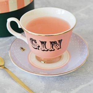 Pastel Gin Tea Cup & Saucer