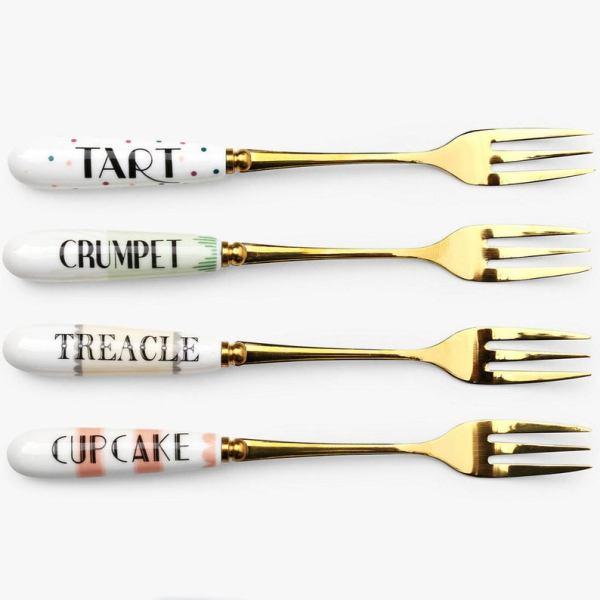Yvonne Ellen Set of 4 Cheeky Cake Forks