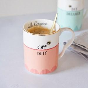 Yvonne Ellen 'Off Duty' and 'Day Dreamer' Mugs, Set of 2