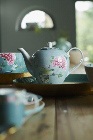 Blushing Birds Teapot and Jug Set