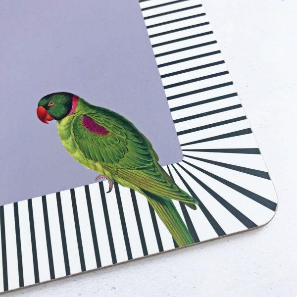 Yvonne Ellen Animal Placemats, Set of 4_Parrot