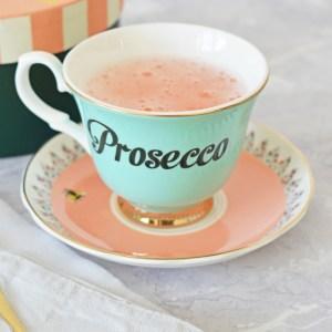 Pastel Prosecco Tea Cup & Saucer