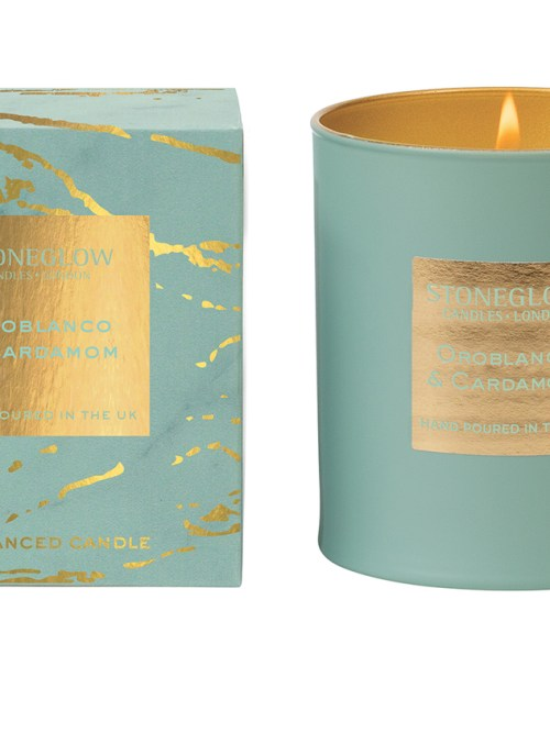 StoneGlow Candle in Oroblanco & Cardamom