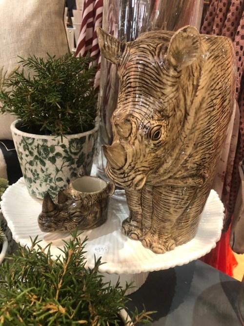 Large China Rhino Vase