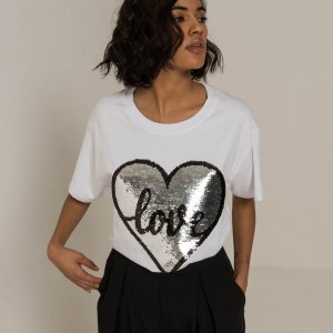 Sequin Love Heart T-shirt