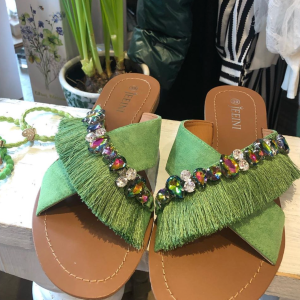 Jewelled embellished sandals