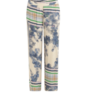 Wide Leg Pants in Scarf Print