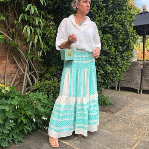 Devotion Aztek Aqua Maxi Skirt