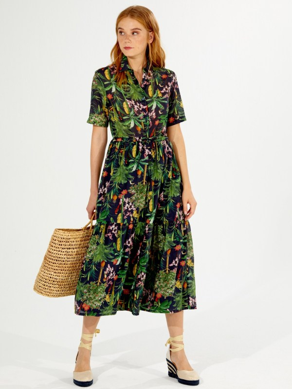 Vilagallo Eveline Attalea Print Dress